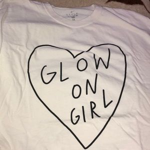 "Plus Size ""Glow On Girl"" Tee"